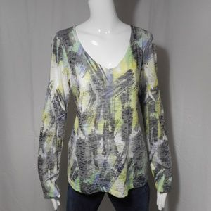 ~Maurices~ Pastel Green/Blue/Black Thin Blouse